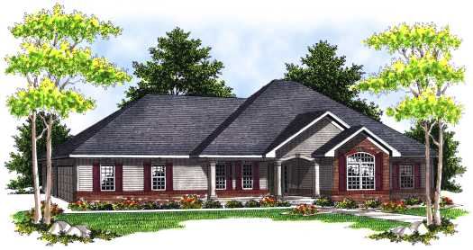 Traditional Style Home Design Plan: 7-667