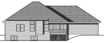 Rear Elevation Plan: 7-668