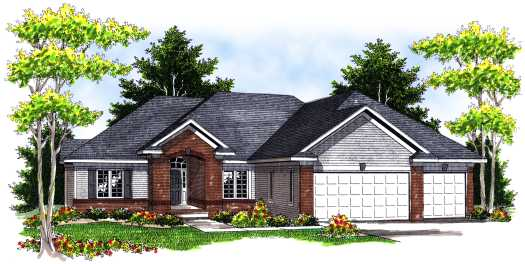 Traditional Style Home Design Plan: 7-671