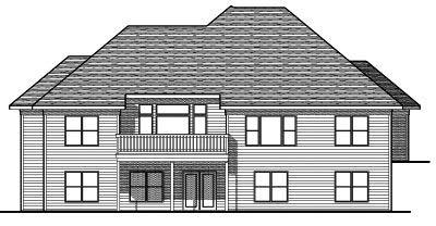 Rear Elevation Plan: 7-672