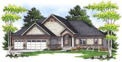 Shingle Style Home Design Plan: 7-672