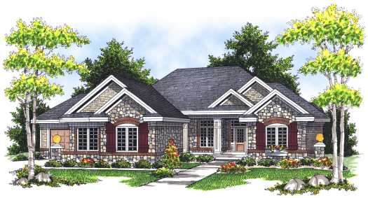 Traditional Style Floor Plans Plan: 7-673