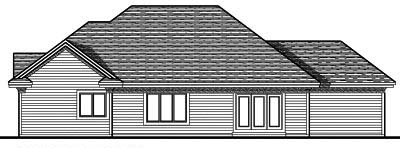 Rear Elevation Plan: 7-673