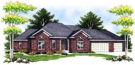 Traditional Style Home Design Plan: 7-674