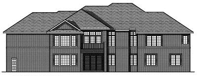 Rear Elevation Plan: 7-674