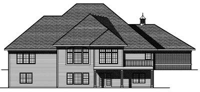 Rear Elevation Plan: 7-676