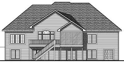Rear Elevation Plan: 7-677