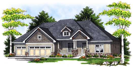 Traditional Style Home Design Plan: 7-678