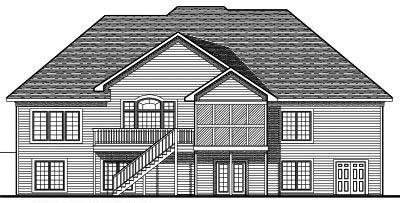 Rear Elevation Plan: 7-678