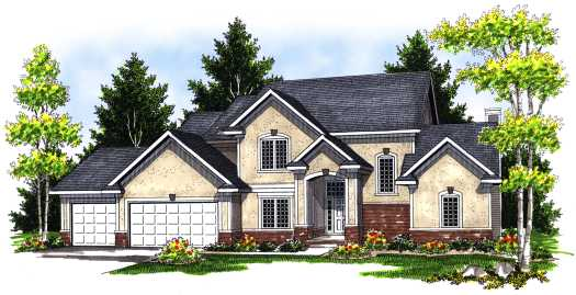 Traditional Style Home Design Plan: 7-680