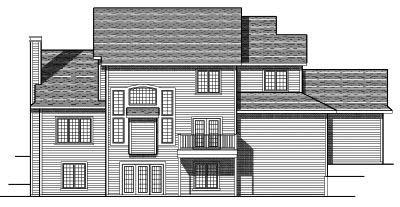 Rear Elevation Plan: 7-680