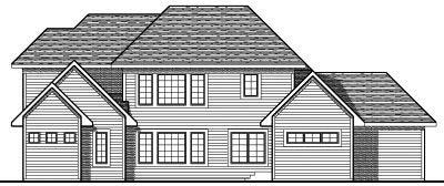 Rear Elevation Plan: 7-684