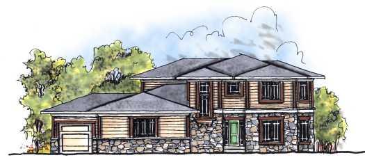 Prairie Style Home Design Plan: 7-685