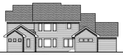 Rear Elevation Plan: 7-686