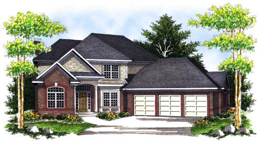 Traditional Style Home Design Plan: 7-687
