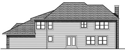 Rear Elevation Plan: 7-687