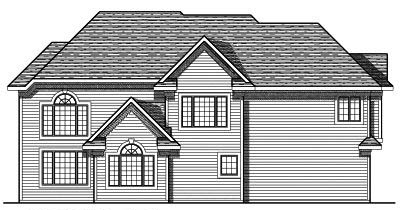 Rear Elevation Plan: 7-688