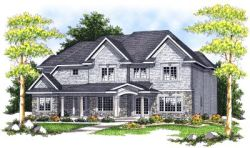 Country Style Home Design Plan: 7-688