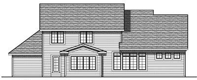 Rear Elevation Plan: 7-690