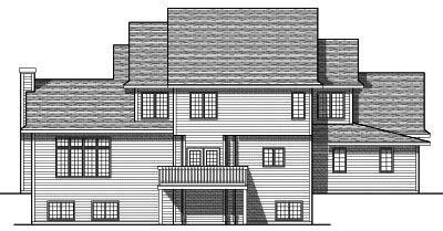 Rear Elevation Plan: 7-691