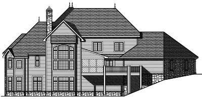 Rear Elevation Plan: 7-692