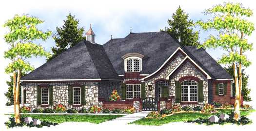 French-country Style House Plans Plan: 7-693