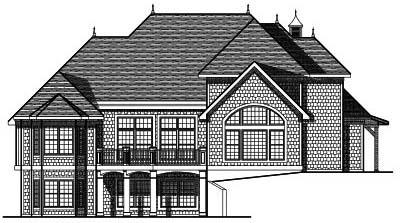 Rear Elevation Plan: 7-693