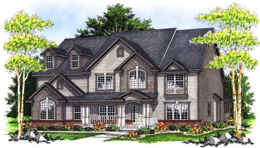 Traditional Style House Plans Plan: 7-694