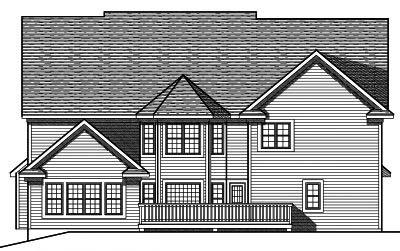 Rear Elevation Plan: 7-694