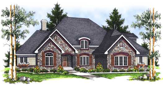 European Style Floor Plans Plan: 7-695