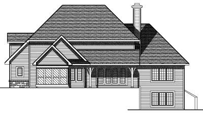 Rear Elevation Plan: 7-695