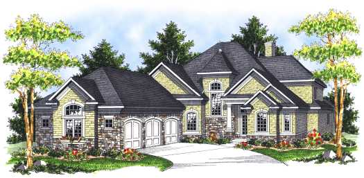 French-country Style House Plans Plan: 7-696