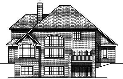Rear Elevation Plan: 7-696