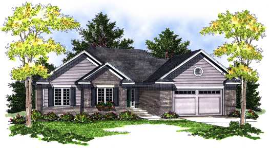 Traditional Style Home Design Plan: 7-699