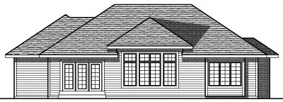 Rear Elevation Plan: 7-699