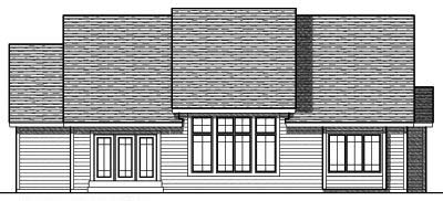 Rear Elevation Plan: 7-700