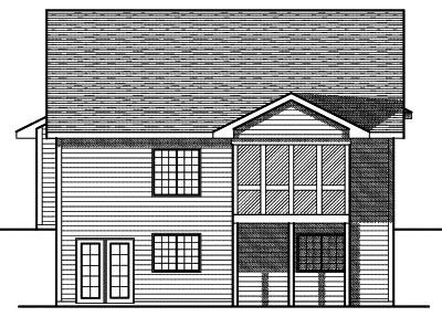 Rear Elevation Plan: 7-701