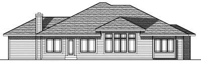Rear Elevation Plan: 7-702