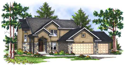 Traditional Style Home Design Plan: 7-703