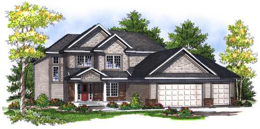 Traditional Style Home Design Plan: 7-704