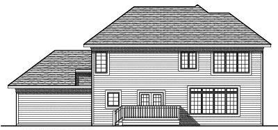 Rear Elevation Plan: 7-704