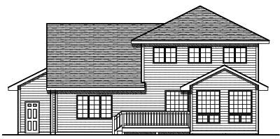 Rear Elevation Plan: 7-705