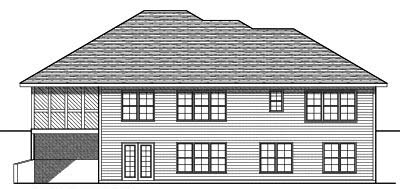 Rear Elevation Plan: 7-707
