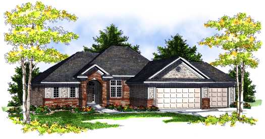 Traditional Style Home Design Plan: 7-708