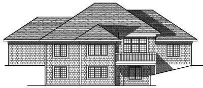 Rear Elevation Plan: 7-708