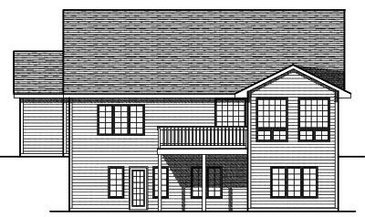 Rear Elevation Plan: 7-709