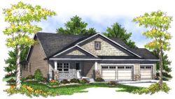 Craftsman Style Home Design Plan: 7-709