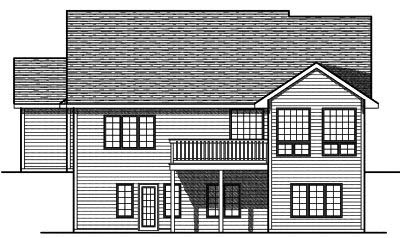 Rear Elevation Plan: 7-710