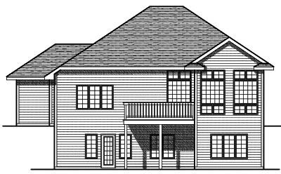 Rear Elevation Plan: 7-711