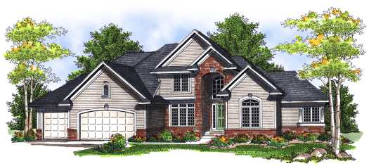 Traditional Style Home Design Plan: 7-713